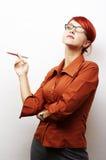 Retrato da mulher de negócio Imagens de Stock