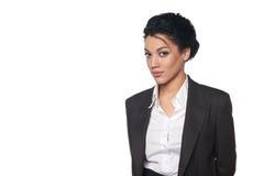 Retrato da mulher de negócio afro-americano Imagem de Stock Royalty Free