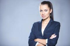 Retrato da mulher de negócio bonita Foto de Stock Royalty Free