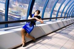 Retrato da mulher de negócio de sorriso Imagem de Stock