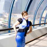 Retrato da mulher de negócio de sorriso Fotos de Stock Royalty Free