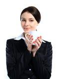 Retrato da mulher de negócio de sorriso fotografia de stock