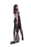 Retrato da mulher de negócio emocional com pele Imagens de Stock Royalty Free