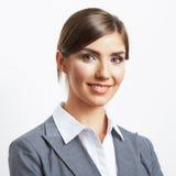 Retrato da mulher de negócio isolado no branco foto de stock