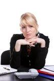 Retrato da mulher de negócio nova Fotografia de Stock