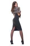 Retrato da mulher de negócio nova com pele Foto de Stock Royalty Free