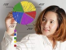 Retrato da mulher de negócio nova feliz imagens de stock royalty free