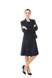 Retrato da mulher de negócio nova feliz Imagens de Stock