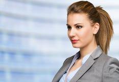 Retrato da mulher de negócios fotografia de stock