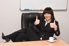 Retrato da mulher de negócios bem sucedida Imagens de Stock Royalty Free
