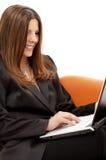 Retrato da mulher de negócios com Foto de Stock Royalty Free