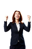 Retrato da mulher de negócios de sorriso fotos de stock