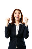 Retrato da mulher de negócios de sorriso imagem de stock royalty free