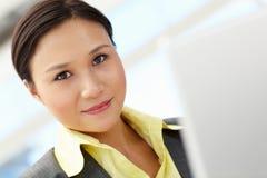 Retrato da mulher de negócios nova Fotografia de Stock