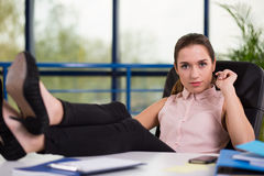 Retrato da mulher de negócios nova Imagens de Stock
