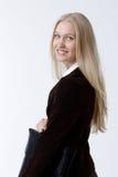Retrato da mulher de negócios nova atrativa fotografia de stock royalty free