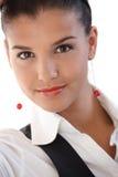 Retrato da mulher de negócios nova bonita Fotografia de Stock