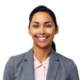 Retrato da mulher de negócios nova feliz fotos de stock