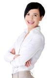 Retrato da mulher de negócios segura feliz fotos de stock