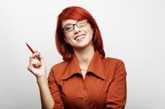 Retrato da mulher de negócio Fotos de Stock Royalty Free