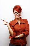Retrato da mulher de negócio Imagens de Stock Royalty Free