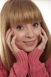 Retrato da mulher de sorriso Foto de Stock Royalty Free