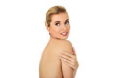 Retrato da mulher despida do sorriso dos jovens Imagem de Stock Royalty Free