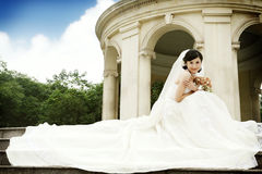 retrato da mulher do casamento Imagens de Stock Royalty Free