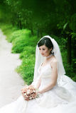 Retrato da mulher do casamento fotos de stock royalty free
