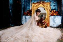 Retrato da mulher do casamento foto de stock