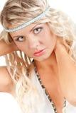 Retrato da mulher do close up Imagens de Stock