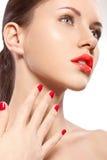 Retrato da mulher do close up imagem de stock royalty free