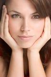 Retrato da mulher do close up Fotografia de Stock
