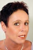 Retrato da mulher do encanto em halfprofile Imagens de Stock