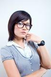 Retrato da mulher do escritório fotos de stock