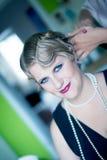 Retrato da mulher do estilo do vintage fotos de stock