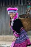 Retrato da mulher do tribo do monte Fotos de Stock Royalty Free