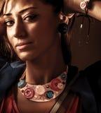 Retrato da mulher elegante Fotografia de Stock