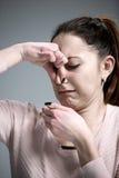 Retrato da mulher enojado Fotografia de Stock Royalty Free