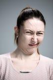 Retrato da mulher enojado Imagem de Stock