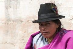 Retrato da mulher equatoriano fotografia de stock royalty free