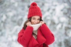Retrato da mulher feliz bonito exterior imagens de stock