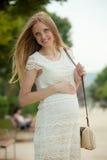 Retrato da mulher feliz da gravidez Imagens de Stock
