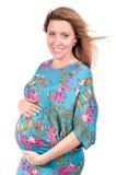 Retrato da mulher gravida bonita feliz Foto de Stock