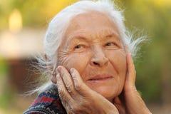 Retrato da mulher idosa Fotos de Stock Royalty Free