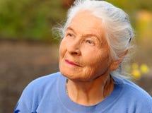 Retrato da mulher idosa Fotos de Stock