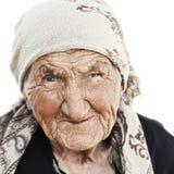 Retrato da mulher idosa que olha lateralmente imagens de stock royalty free