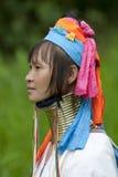Retrato da mulher longa da garganta Imagens de Stock Royalty Free