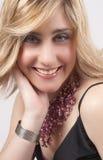 Retrato da mulher loura bonita imagens de stock royalty free