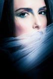 Retrato da mulher misteriosa imagem de stock royalty free